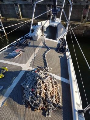 Anchor chain back inside - Liberta.fi