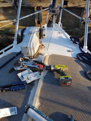 Installing the anchor roll - Liberta.fi