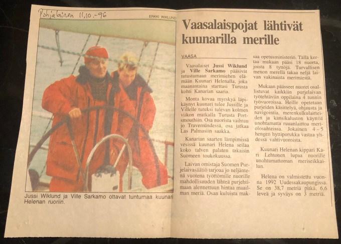 Vaasalaispojat kuunari Helenalla - Liberta.fi