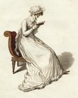 Regency reading woman