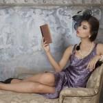 romantic novelist reading aloud