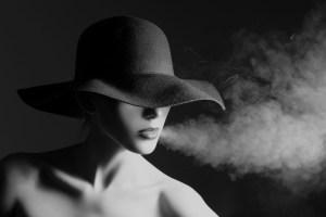 author in hat