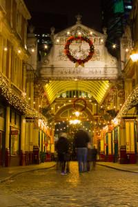Leadenhall Market in Christmas Splendour