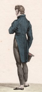 skin tight pantaloons of 1817, dress for romantic hero