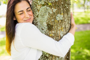 hugging a tree better than writer's block