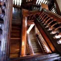 Ashdown staircase from top by tour guide