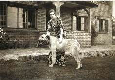 Georgette Heyer put animals in books, shown here with her dog