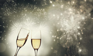 champagne and fireworks