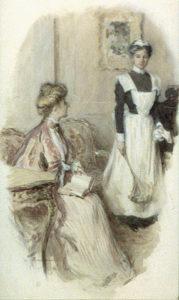 female servant, a housemaid in 1906