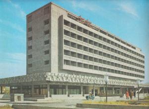 Buffy's Librarian Brutalist Soviet hotel