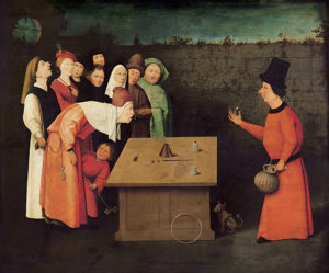 The Conjurer, by Hieronymus Bosch including pickpocket