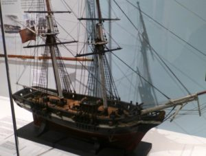model of packet ship, Duke of Marlborough, 1814