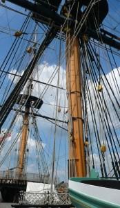 rigging of 19th century sailing ship