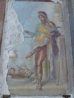 Pompeii, Priapus wall painting, House of Vettii