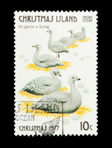Day 6 goose stamp 1977
