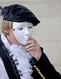 character with masked face