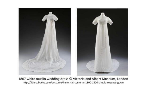 1807 white muslin wedding dress © Victoria & Albert Museum, London