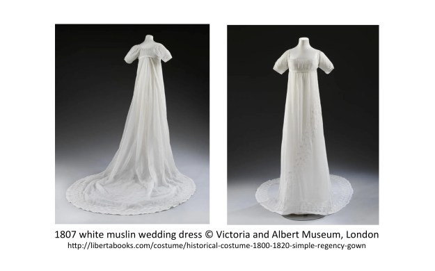 1807 white muslin wedding dress © Victoria & Albert Museum, London