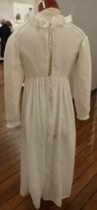 1815 Regency gown back replica