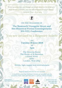 Georgette Heyer regency invitation