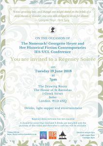 Georgette Heyer regency invitation
