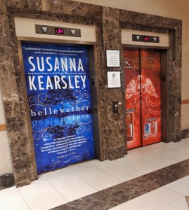 Romance Coference Diary - lift doors with book covers
