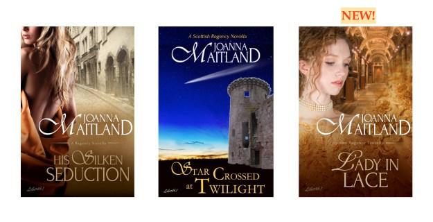 three Joanna Maitland Independent covers
