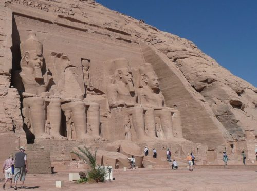 Exterior of Great Temple at Abu Simbel on the Nile