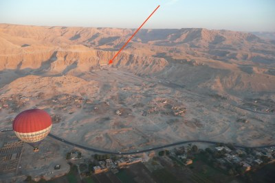 Hatshepsut's temple on the Nile from the air