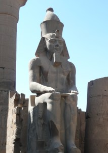 Statue of Rameses II at Karnak temple on the Nile