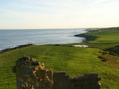 view from battlements of Dunstanburgh