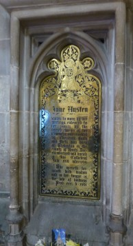 Winchester Cathedral, plaque to Jane Austen