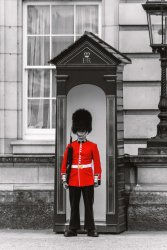 soldier on guard in London