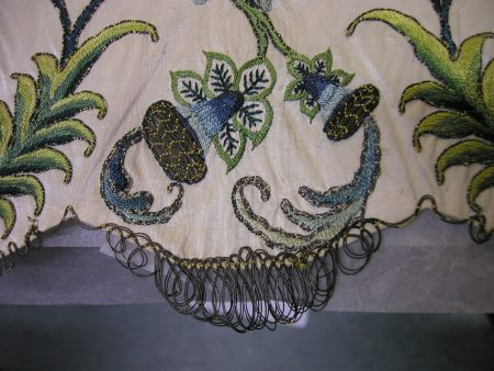 embroidery with looped edging