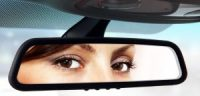 Adobe library image, eyes in rearview mirror
