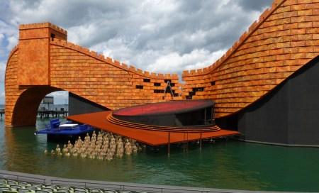Turandot set, Bregenz, 2015