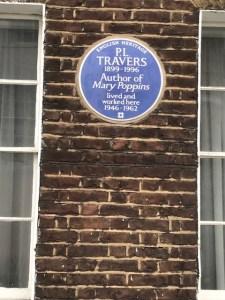 P L Travers, blue plaque