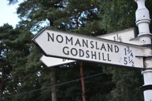 Fingerpost to Nomansland an Godshill