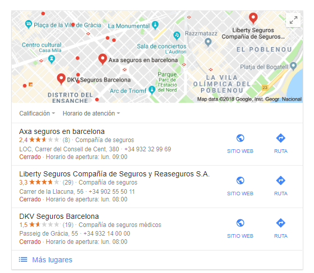 Buscar establecimientos para hacer reseñas