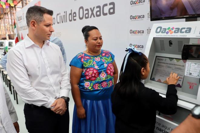 Actas de nacimiento digitales en Oaxaca: AMH