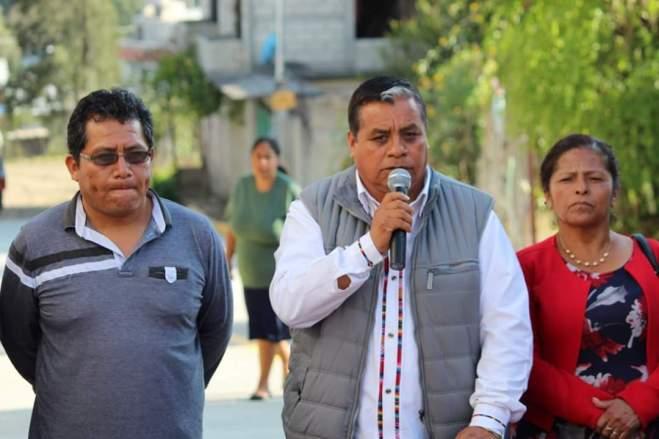 Gobierno municipal de Tlaxiaco entrega 3 obras más a beneficio de habitantes de la Purísima, Cruz del Tabaco y El Mirador