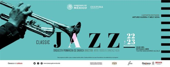 "Presenta Orquesta Primavera de Oaxaca ""Classic Jazz"": Seculta"