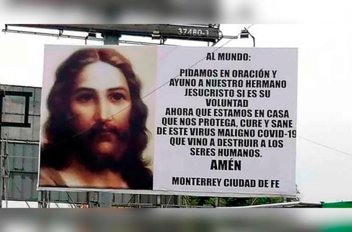 En Monterrey colocan mensajes donde aseguran que es el fin del mundo