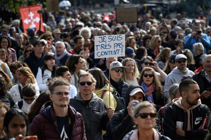 Antivacunas en Suiza denuncian dictadura sanitaria; miles se manifestaron en contra de las restricciones por pandemia
