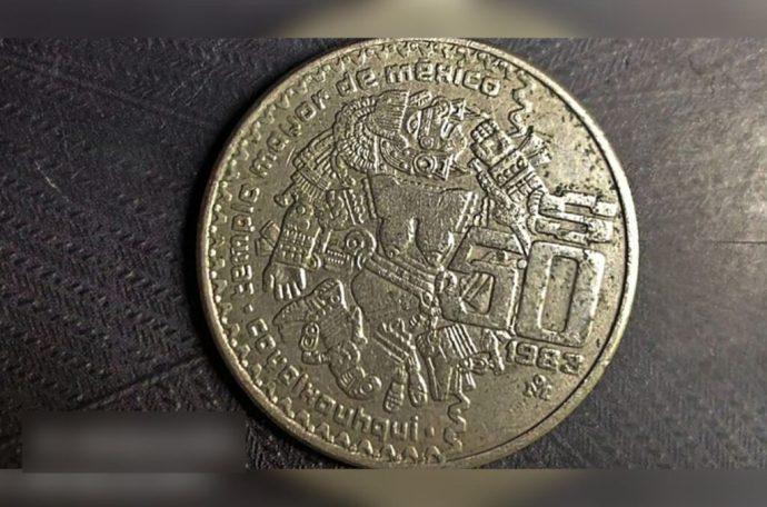 moneda de Coyolxauhqui