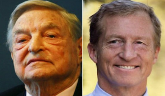 Image result for picture of tom steyer and george soros