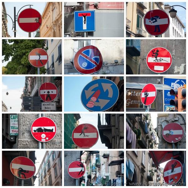 Libertad Viajera chispas Napoli Clet