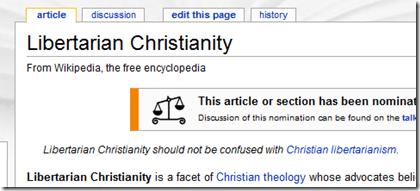 Libertarian Christian, or Christian libertarian?