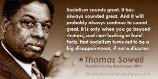 Thomas Sowell, socialism, quote, meme, libertarian, statism