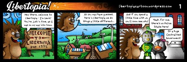 libertarian, voluntaryist, cartoon, series, libertopia, illustration